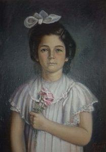 María Pilar Rivera Garretas. Óleo de Antonio Torcal. Bilbao, 1951